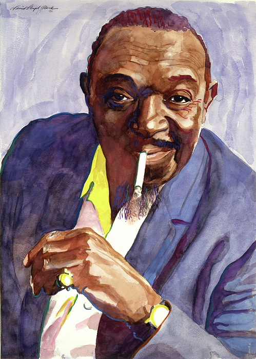 Jazz Painting - Rex Stewart Jazz Man by David Lloyd Glover