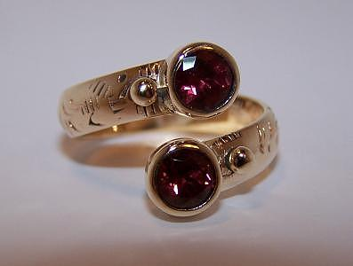 One Of A Kind Open Garnet Ring Jewelry - Rhodolite Garnet Ring by Kimberly Stephenson