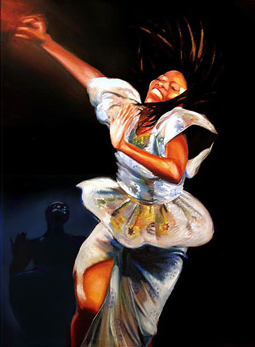 Rhythm N Motion Painting by Wendell Wiggins
