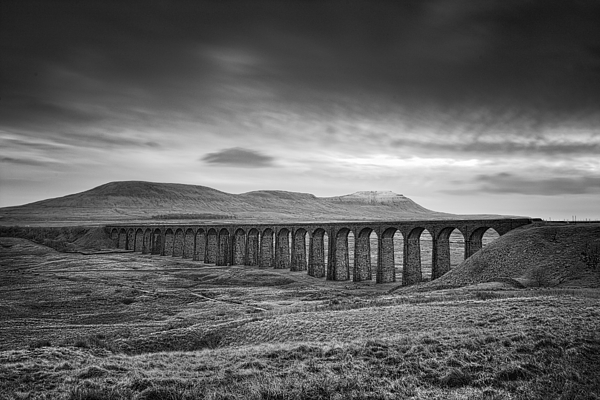 Landscape Photograph - Ribblehead Viaduct Uk by Ian Barber