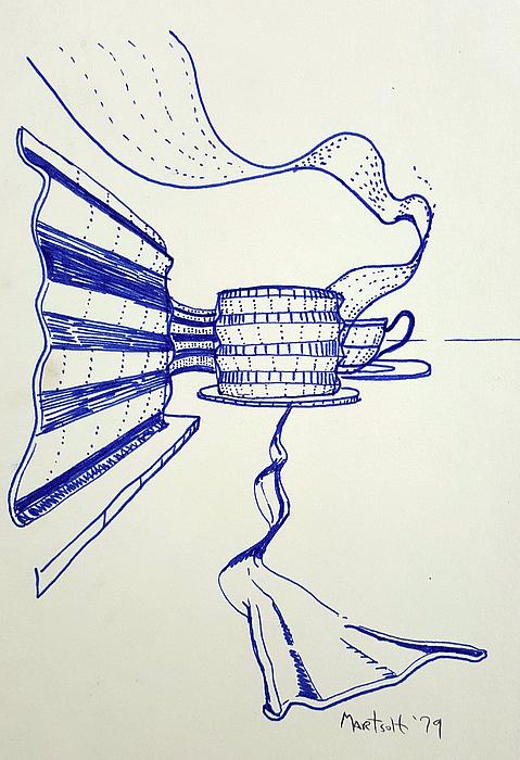 Ribbons Drawing - Ribbons by Dave Martsolf