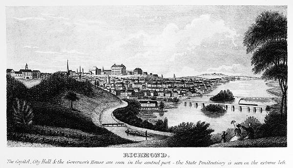 1856 Photograph - Richmond, Virginia, 1856 by Granger