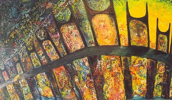 Ricochet Painting by Gunter  Tanzerel