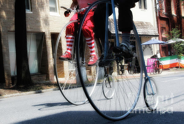 Penny-farthing Photograph - Riding High by Steven Digman