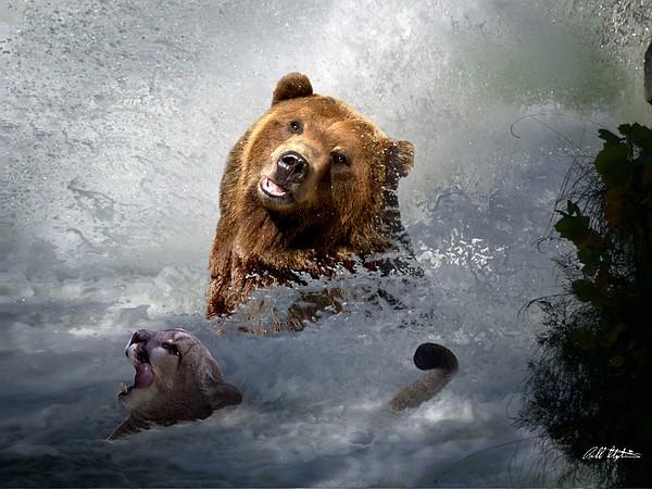 Bear Digital Art - Riding The Gauntlet by Bill Stephens