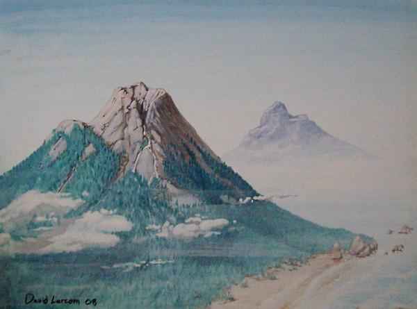 Tropics Painting - Rinjani by David  Larcom