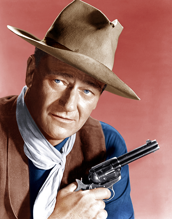 Bandana Photograph - Rio Bravo, John Wayne, 1959 by Everett