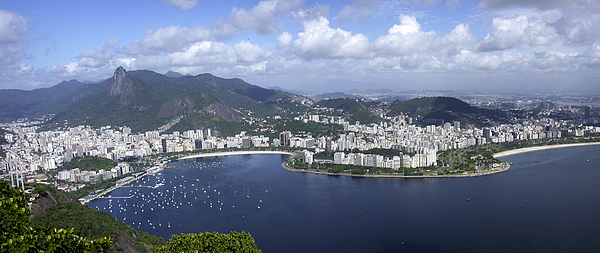 Rio De Janiero Photograph - Rio De Janiero Aerial by Sandra Bronstein