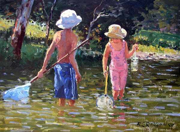 River Fun Painting - River Fun by Roelof Rossouw