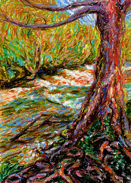 River Painting - River Hafren In September by Alexandra Cook