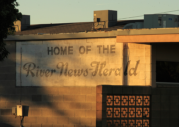 Building Photograph - River News-herald by Troy Montemayor
