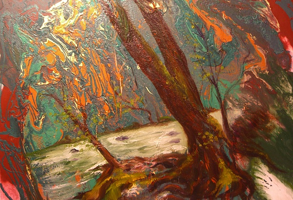 Nature Painting - River Of Energy by Sofanya White