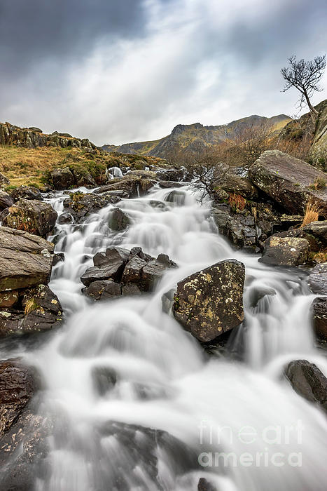 Devils Kitchen Photograph - River Rapids Snowdonia by Adrian Evans