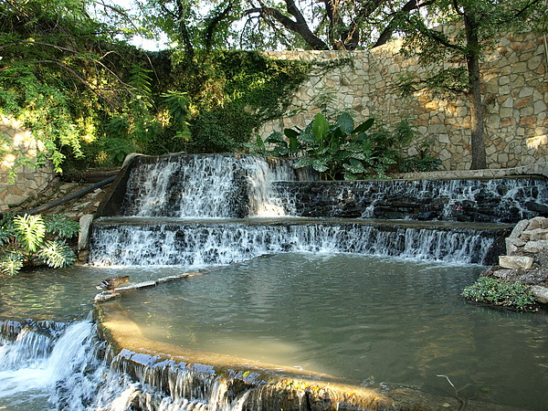 Riverwalk Photograph - Riverwalk Waterfall by Dennis Stein