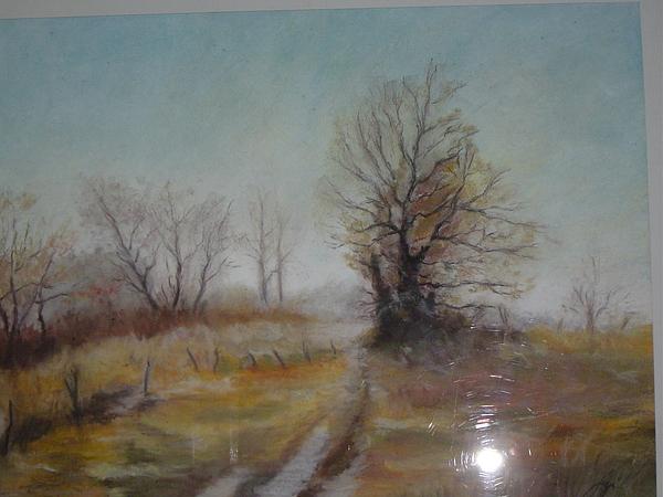 Landscape Pastel - Road by Attila Szombathelyi