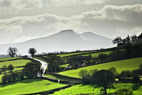 Horizontal Photograph - Road To Brecon Beacons by Ginny Battson