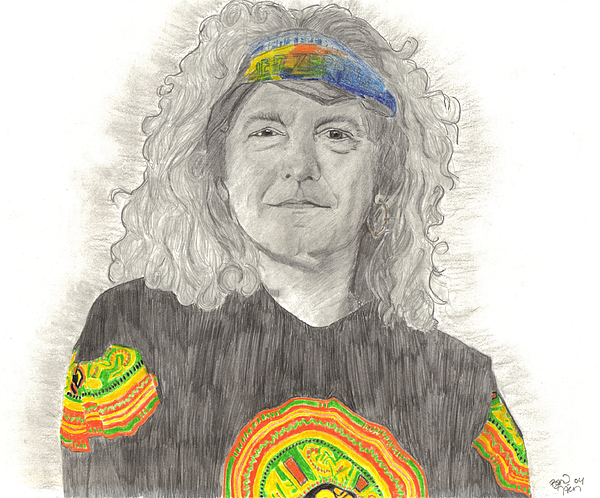 Robert Plant Drawing - Robert Plant by Bari Titen