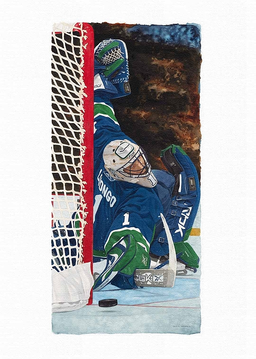 Nhl Painting - Roberto Luongo by Glen Green