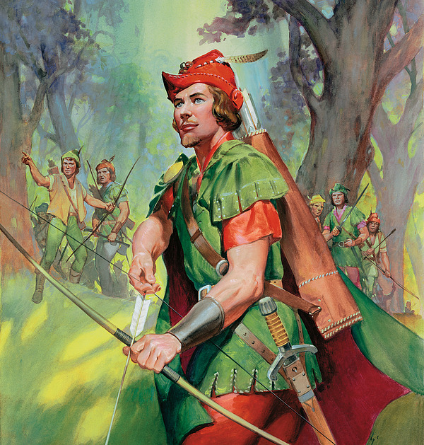 Robin Painting - Robin Hood by James Edwin McConnell