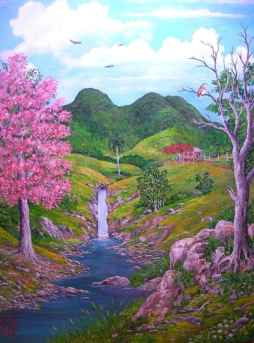 Landscape Painting - Roble Florecido by Jose Lugo