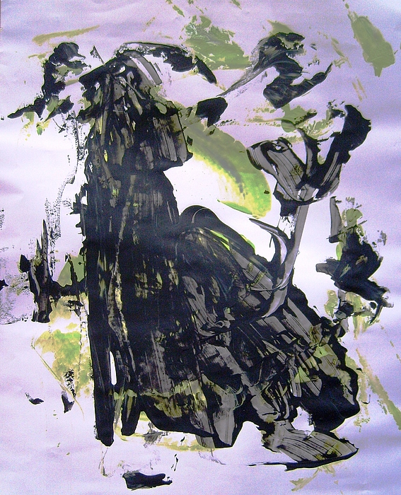 Abstract Painting - Robot Breaking Up by Bruce Combs - REACH BEYOND