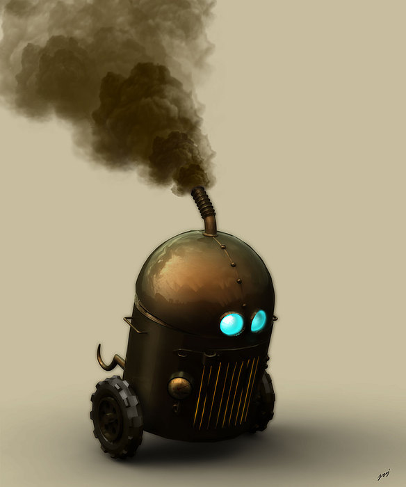 Digital Digital Art - Robu by Raj