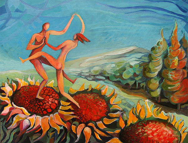 Mazzone Painting - Rock And Roll by Umberto Mazzone