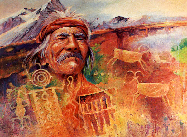 Indian Painting - Rock Art by Don Trout