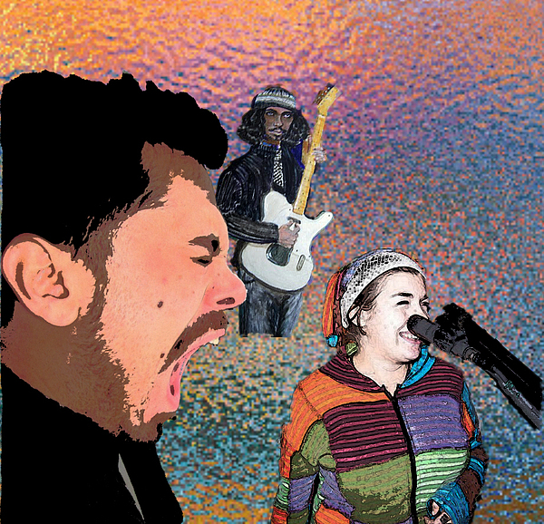 Musicians Painting - Rock Star Couple by Penfield Hondros