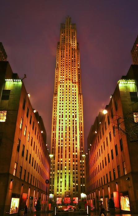 Building Photograph - Rockefeller Center by Evelina Kremsdorf