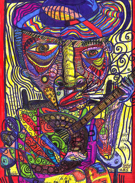 Neo-expressionism Painting - Rockin Chair by Robert Wolverton Jr