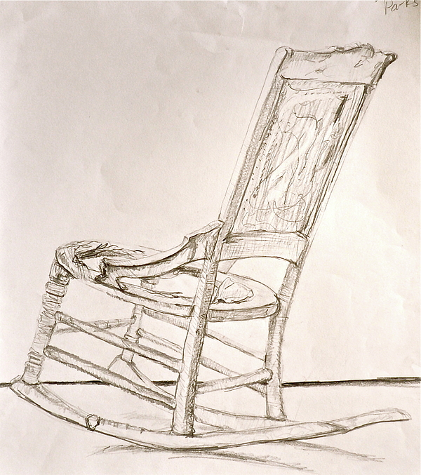 Rocking Chair Sketch Drawing By Laura Ogrodnik