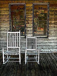 Rocking Chairs Digital Art - Rocking Chairs by Sue Pierson