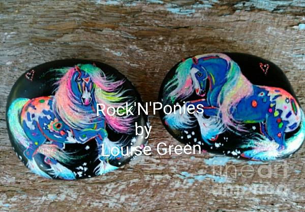 Gypsy Cob Mixed Media - Rocknponies Storm Dancer Ponies by Louise Green