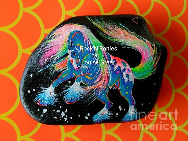Unicorn Mixed Media - Rocknponies - Storm Dancer Unicorn by Louise Green