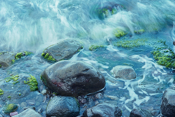 Water Photograph - Rocks In Water by Richard Nickson
