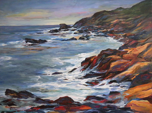 Rocks Painting - Rocky Coast by Pati Maguire