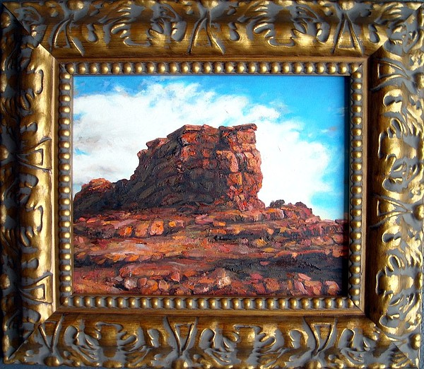 Oil Painting - Rocky Formation by Cameron Hampton P S A