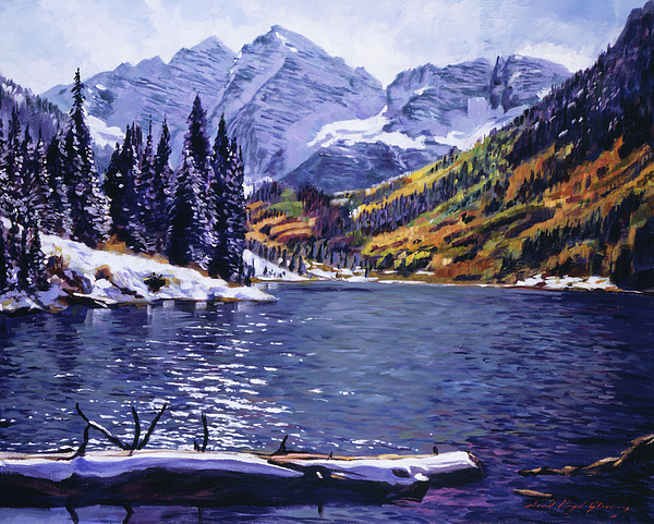Mountains Painting - Rocky Mountain Serenity by David Lloyd Glover