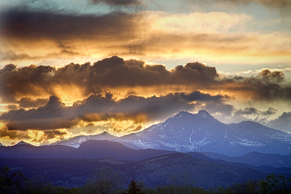 Longs Peak Photograph - Rocky Mountain Springtime Sunset 3 by James BO  Insogna