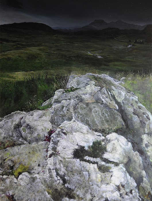Landscape Painting - Rocky Outcrop by Harry Robertson