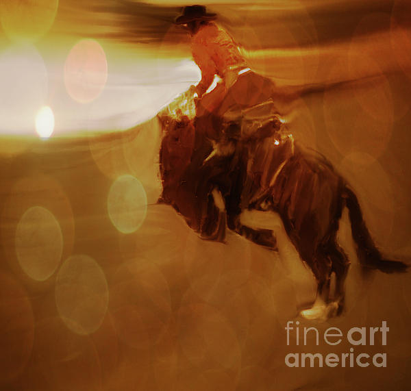 Cowboy Photograph - Rodeo Abstract by Al Bourassa