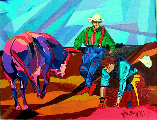 Rodeo Painting - Rodeo Clown by Jamie Winter
