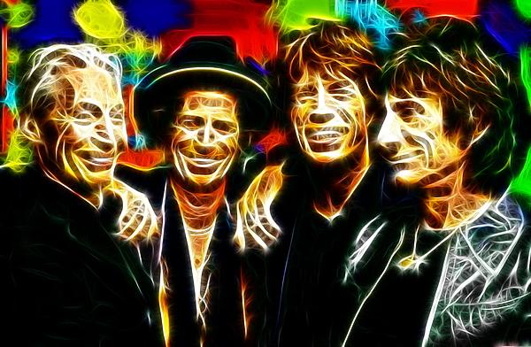 Rolling Stones Digital Art - Rolling Stones Mystical by Paul Van Scott