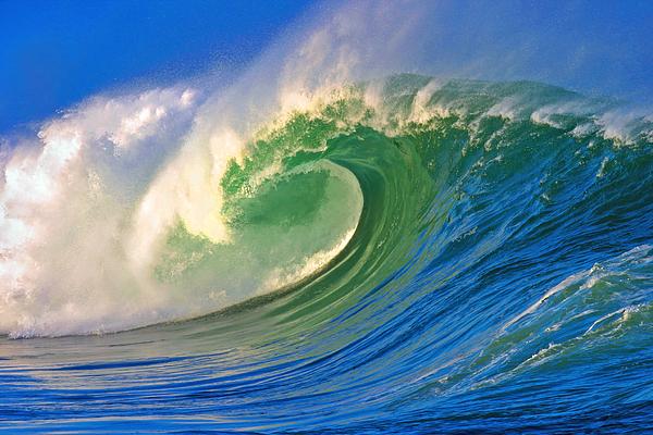 Ocean Photograph - Rolling Through by Paul Topp