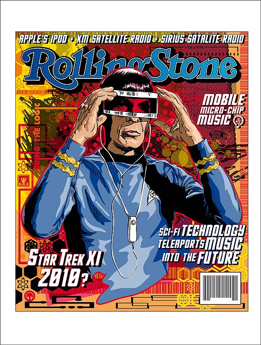 Digital Digital Art - Rollingstone  Cover2 by US Amazing