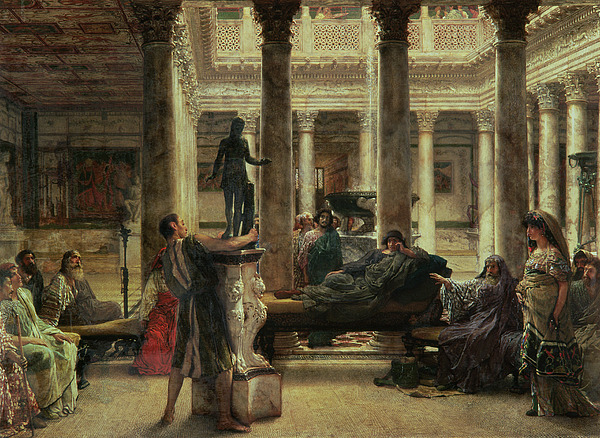 Roman Painting - Roman Art Lover by Sir Lawrence Alma-Tadema