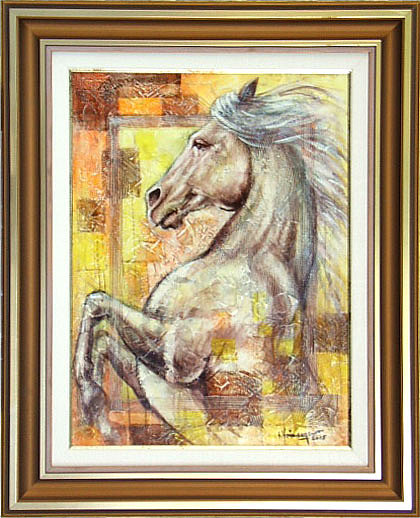 Abstract Painting - Roman Horse by Voineagu  Ion