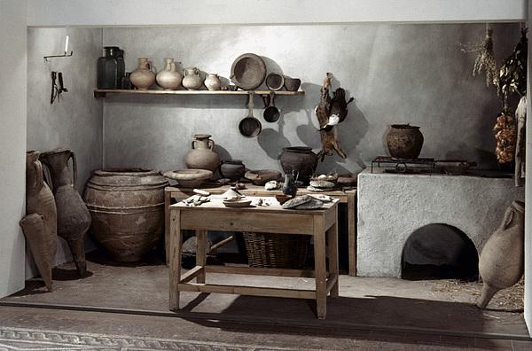100 Photograph - Roman Kitchen, 100 A.d by Granger