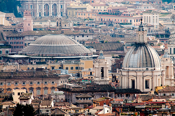 Pantheon Photograph - Roman Rooftops by Andy Smy